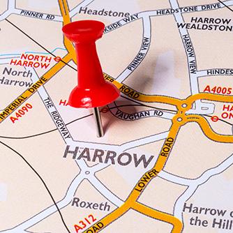 Harrow - Pin in map