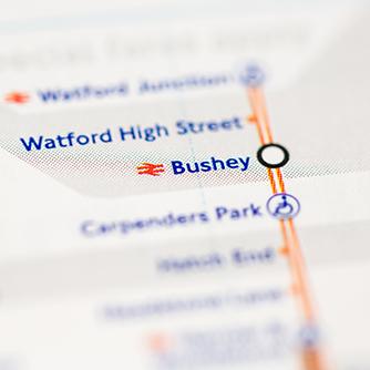 Bushey Rail Map