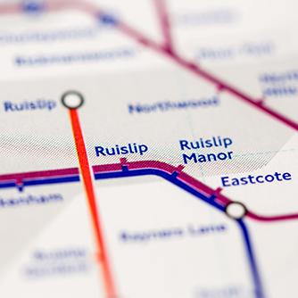 Ruislip overground map