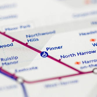 Pinner Tube Map