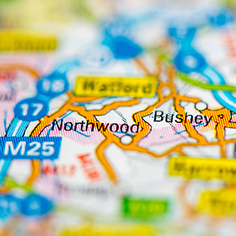 Bushey road map