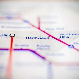 Northwood tube map