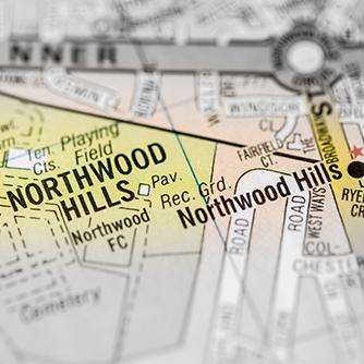 Northwood map